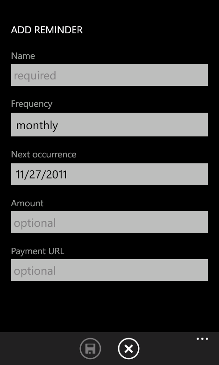 Bill Reminder Screenshot 2