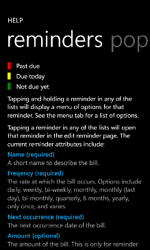 Bill Reminder Screenshot 9