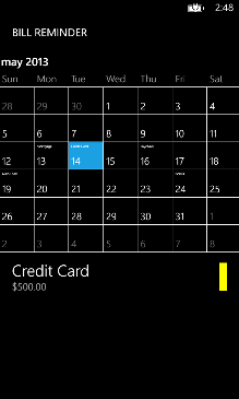 Bill Reminder Screenshot 1